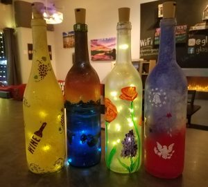 Paint Wine Bottles! @ Glasses Wine Bar