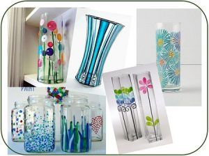 Paint Glass Vases @ Glasses Wine Bar