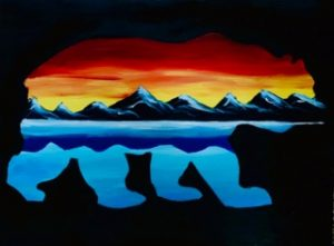 Lake Tahoe Bear Paint Night @ Glasses Wine Bar