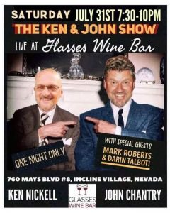 Ken and John Show Live! @ Glasses Wine Bar